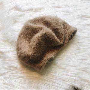 Angora Rabbit Fur Blend Cap